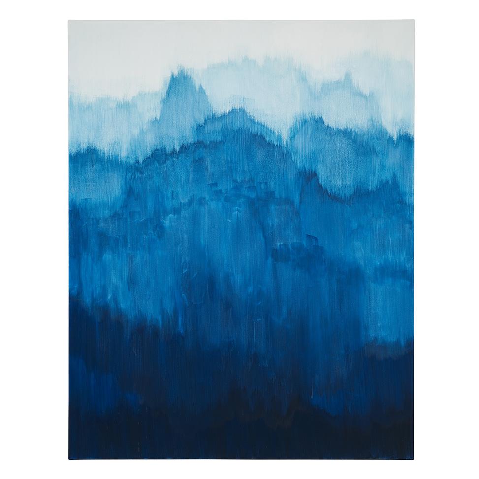 Sich auftürmendes Blau