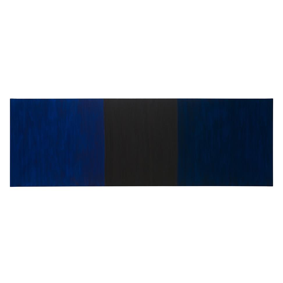 Zweierlei Blau an Schwarz