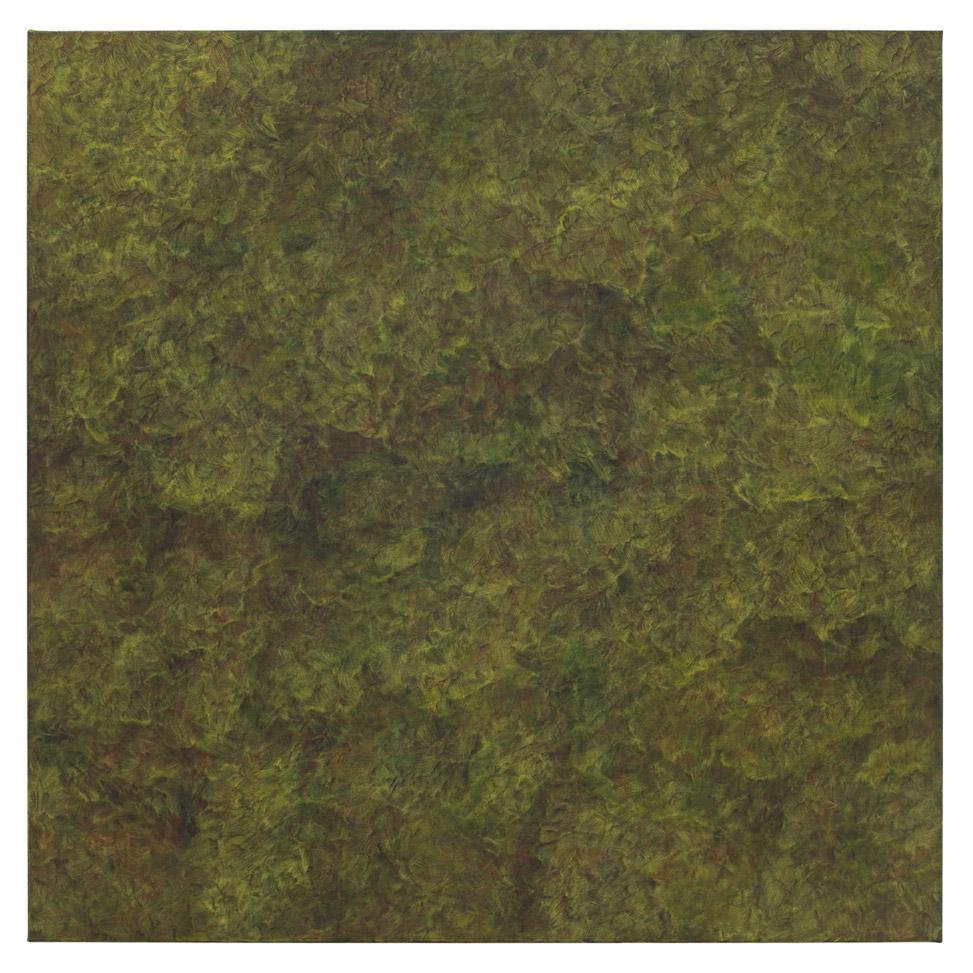 In sich ruhendes, lebendiges Dunkelgrün