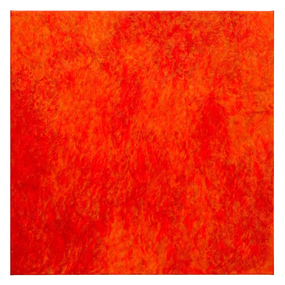 Lebendig-intensives Orange-Rot