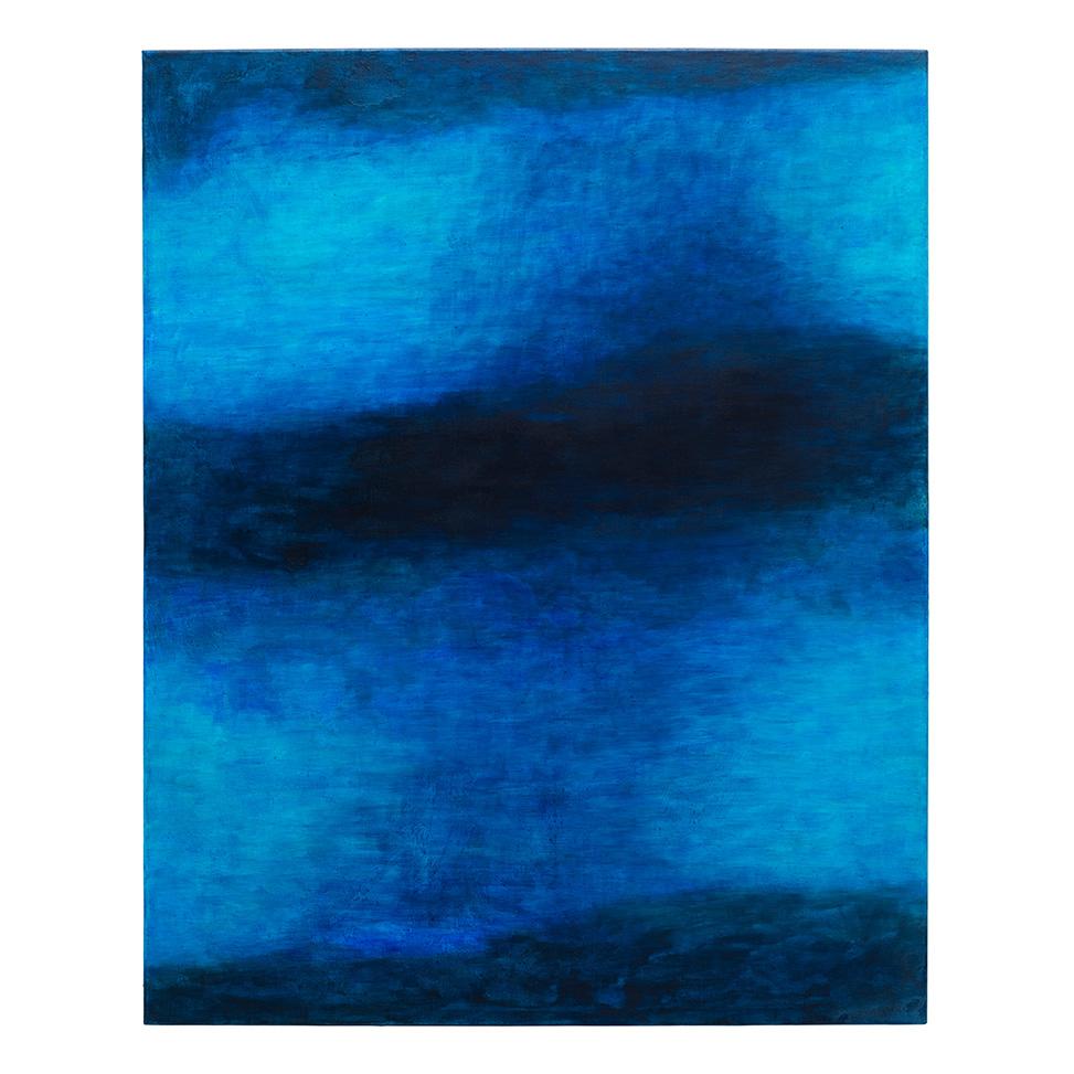 Im Türkisen durchs Dunkle schwebendes Blau
