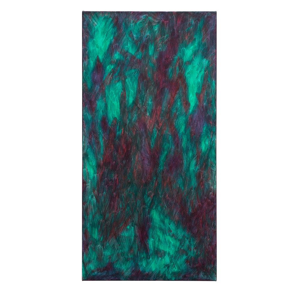 Dunkles Violett  im hellen Grün