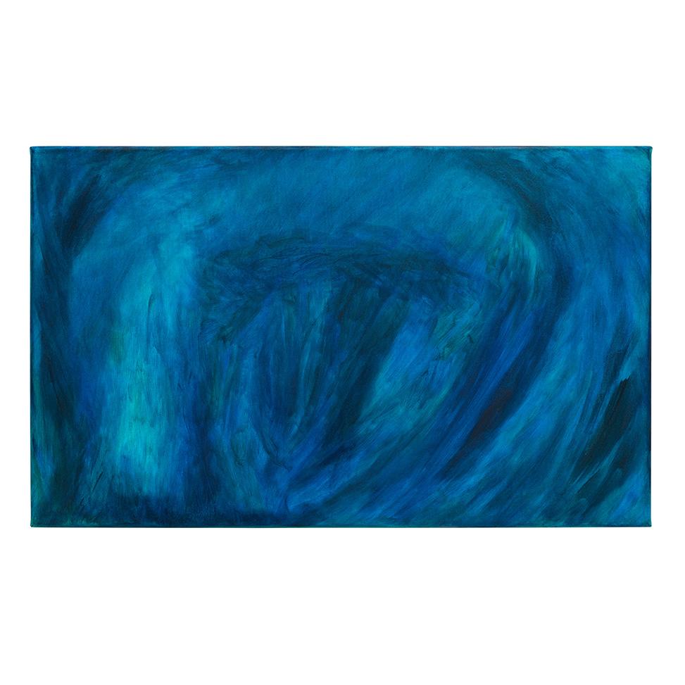 Dynamisch verwirbeltes Blau-Grün